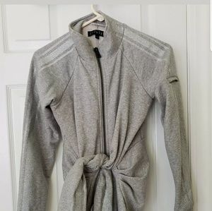 Womans jocelyn gray jacket sweatshirt cotton xs